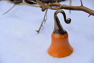 Dekorácie - ♥ Zvončekovo ♥ (cca 15 cm - Oranžová) - 10203882_