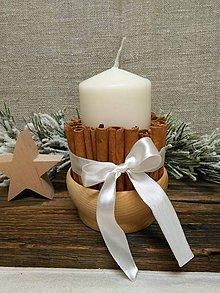 Svietidlá a sviečky - sviečka s vôňou škorice - 10205905_