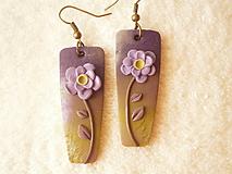 Náušnice - Náušnice z polyméru, kvieťa v tôni - 10204581_
