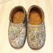Obuv - Vlnené plstené papuče - 10205925_