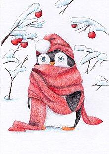 Kresby - Aj tučniakom je zima - 10204071_