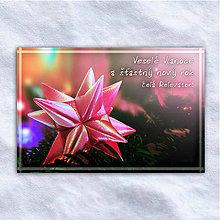 Grafika - Vianočná virtuálna pohľadnica - hviezda - 10207170_