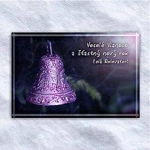 Grafika - Vianočná virtuálna pohľadnica - zvonček - 10207228_