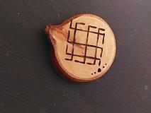 Magnetky - Drevené magnetky - výpredaj - 10207053_