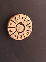 Magnetky - Drevené magnetky - výpredaj - 10207085_