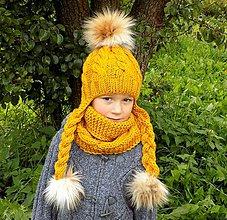 Detské čiapky - vrkočiková čiapočka - 10209563_