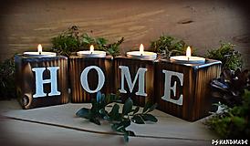 Svietidlá a sviečky - Sada smrekových svietnikov