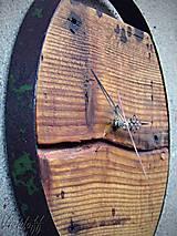 Hodiny - Hodiny nástenné smrekovokovové - 10210952_