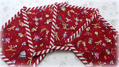 Úžitkový textil - Christmas Toys.. podšálky - 10209475_
