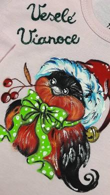 Detské oblečenie - vianočné body- vtáčik - 10209057_