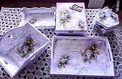 Nezaradené - Súprava drevených krabičiek - 10209774_