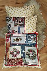 Úžitkový textil - Vianočné vankúše zlaté set 3ks - 10209741_