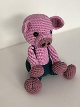 Hračky - Háčkované prasiatko Georgi / Crochet piggy Georgi - 10210858_