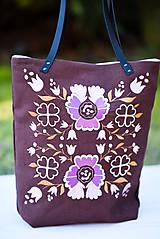 Veľké tašky - Veľká ľanová taška Poľana - 10210812_