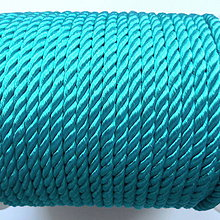 Galantéria - Šnúra točená 4mm-1m (modrá) - 10211732_