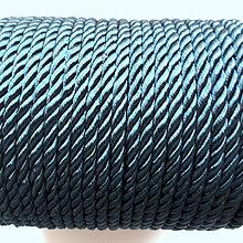 Galantéria - Šnúra točená 4mm-1m (tm.modrá) - 10211733_