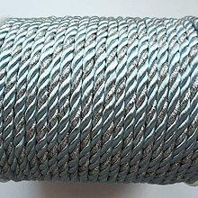 Galantéria - Šnúra točená 4mm-1m (sv.modrá/strieborná) - 10211735_