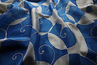 Šatky - Modrobiela šatka - 10211255_