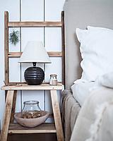 Dekorácie - mini rebrík zo starého mäkkého dreva - 10211268_