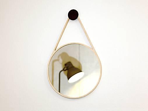 Marc Drop Mirror - drevené nástenné zrkadlo (Béžová)