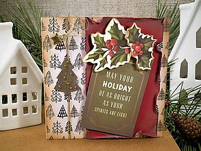 Papiernictvo - Vintage Vianoce pohľadnica - 10210672_