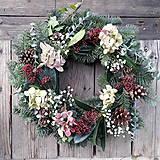 Dekorácie - Zimný veniec v ružovej - 10211839_