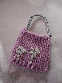 Hračky - Barbie - pletená fialková taška - 10209510_