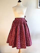 Sukne - zavinovacia folk sukňa červená II. - 10210883_