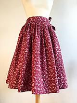 Sukne - zavinovacia folk sukňa červená II. - 10210884_