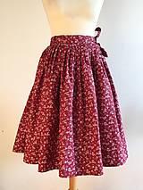 Sukne - zavinovacia folk sukňa červená II. - 10210886_
