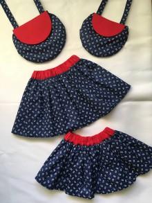 "Detské oblečenie - family set ""mama a ja"" - suknička s červeným pásom - 10210843_"