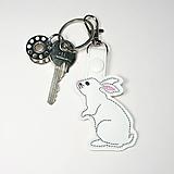 Kľúčenky - Prívesok zajko - 10210221_