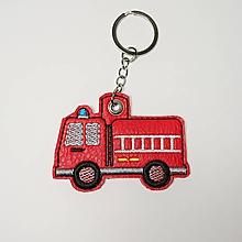 Kľúčenky - Prívesok hasičské auto (krúžok a retiazka) - 10210204_