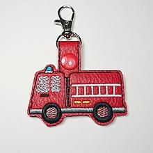 Kľúčenky - Prívesok hasičské auto (karabínka) - 10210210_