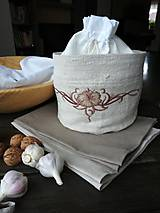 Úžitkový textil - Darčeková sada - Ľanový košík + ľanové utierky - 10210460_