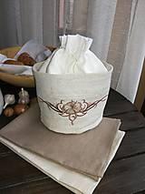 Úžitkový textil - Darčeková sada - Ľanový košík + ľanové utierky - 10210463_
