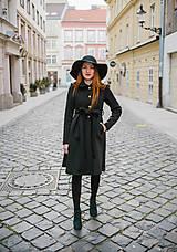 Kabáty - Elegantný upcycle kabát - 10212107_