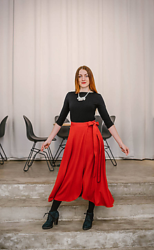 Sukne - Zavinovacia bambusová sukňa - 10211904_