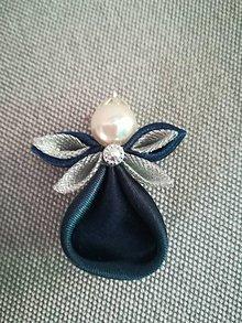 Dekorácie - Anjelíček Trpaslíček (Modrý) - 10211930_