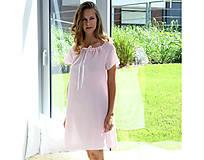 Pyžamy a župany - Lilly - nočná košeľa, bio bavlna, ružová - 10212303_