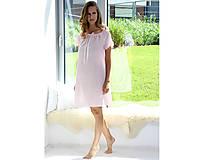 Pyžamy a župany - Lilly - nočná košeľa, bio bavlna, ružová - 10212304_