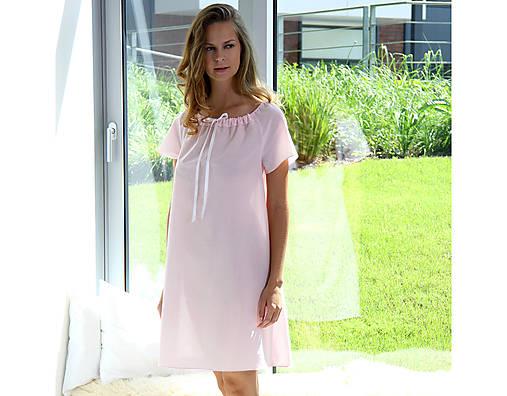 Lilly - nočná košeľa, bio bavlna, ružová