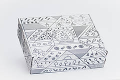 Obalový materiál - Vianočná krabica - 10209860_