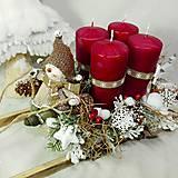Dekorácie - Adventná dekorácia - Adventní sáňky - Sněhuláku, dovez dárky... - 10208671_