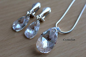 Sady šperkov - Set Swarovski Pear Moonlight - 10212376_