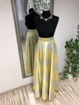Dlhá sukňa Iris žltá