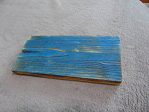Nábytok - Polička na fotky (Modrá) - 10210678_