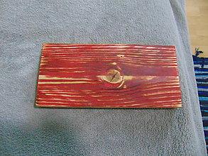 Nábytok - Polička na fotky (Červená) - 10210682_