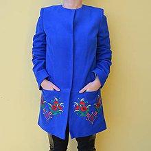 Kabáty - Vyšívaný , folklórny , ľudový , dámsky , kabát - 10211207_