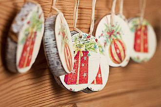 Dekorácie - Recy vianočné ozdoby malé - 10208659_